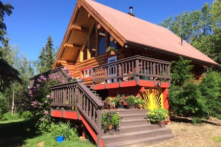 Beautiful Log Home, Interior Alaska - Fairbanks - Hus