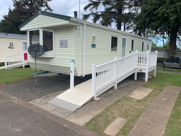 Caravan to rent at Haggerston Castle holiday park