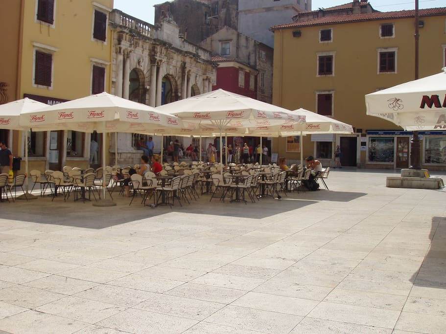 Nearby is the People's Square, the main square in Zadar.