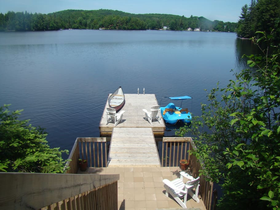 New landing and dock.