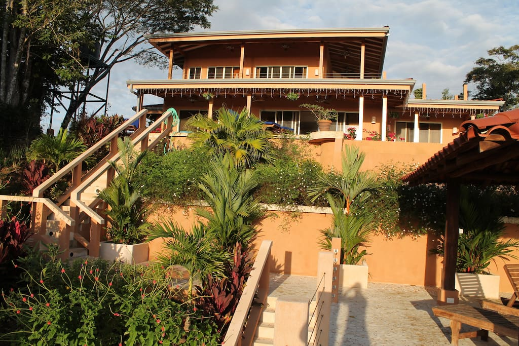 A front view of Casa Solipaz from the private rancho (atop the garage).
