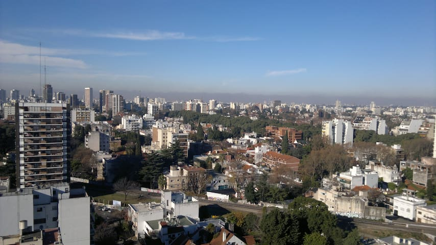Lovely sunny 18th floor bedroom - Buenos Aires - Apartemen