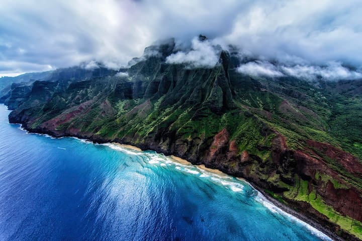 Napili Coastline, as seen from helicopter