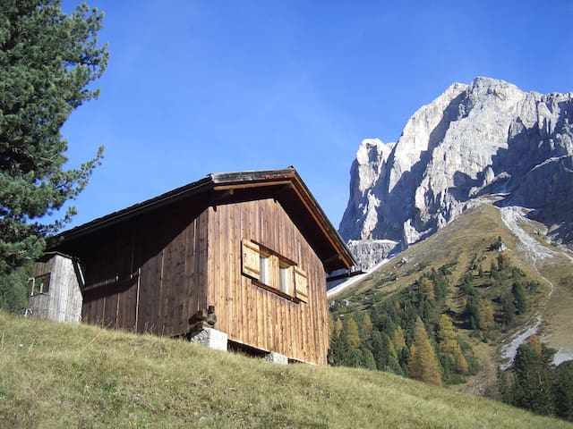 Beautiful wooden hut in the Dolomites - Bressanone - Stråhytte