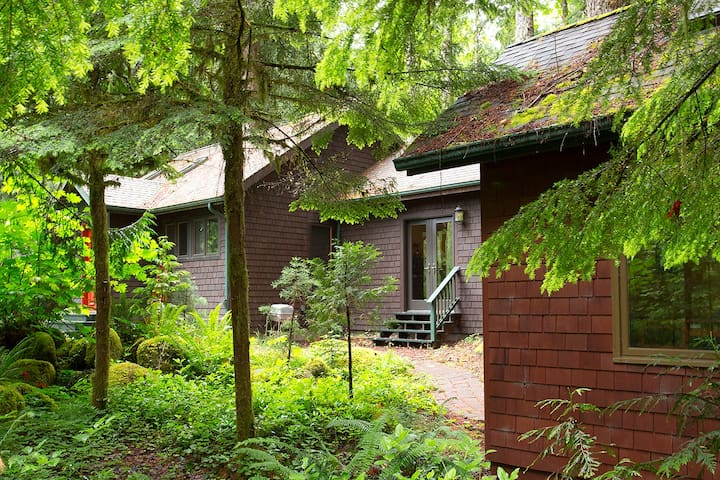 Modern riverfront mountain cottage - Rhododendron - Cabane