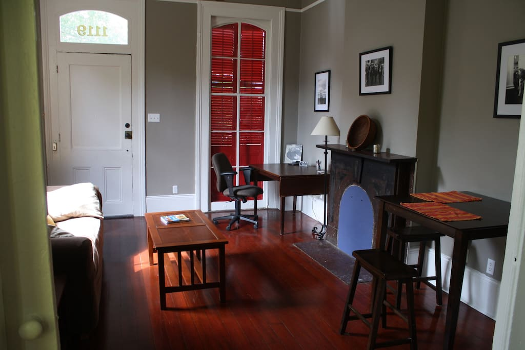 The loft is in a historic camelback - in the historic Lower Garden District.