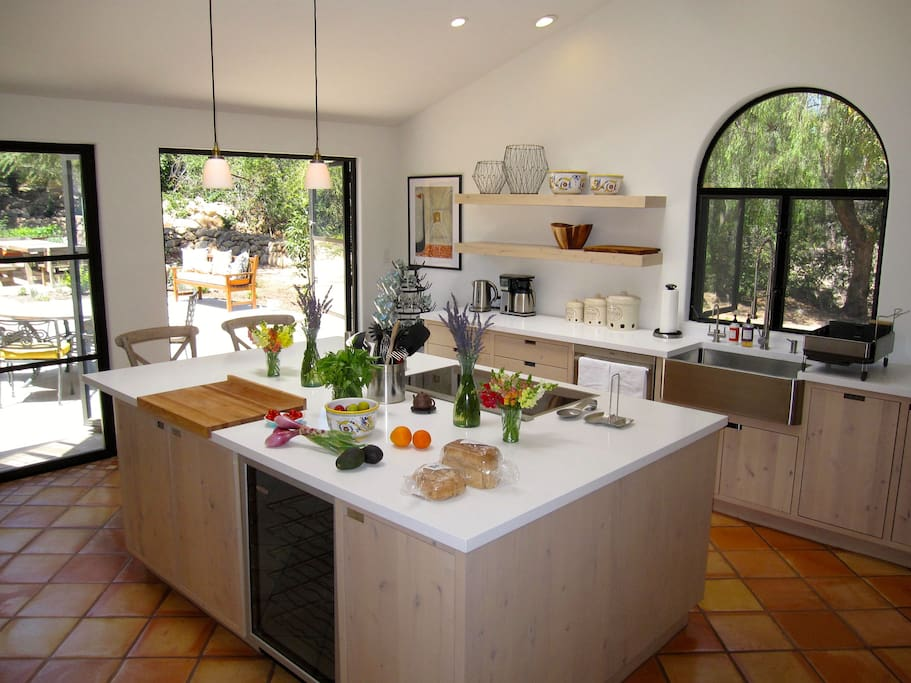 The large kitchen lets you cook and socialize