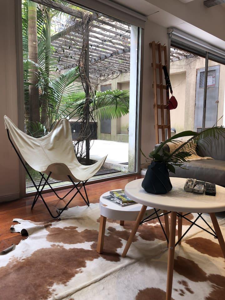 Increíble Loft con Jardin&Grill en Palermo Queens