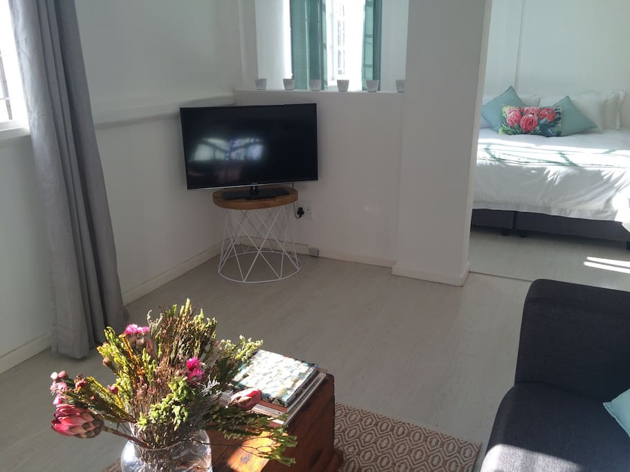 TV with DSTV (SA cable) and HDMI USB cable.