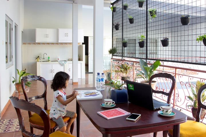 This comfy living room is from Pogung Pavilion , which located at Kaliurang Street Km. 5,3, Pogung Baru W7