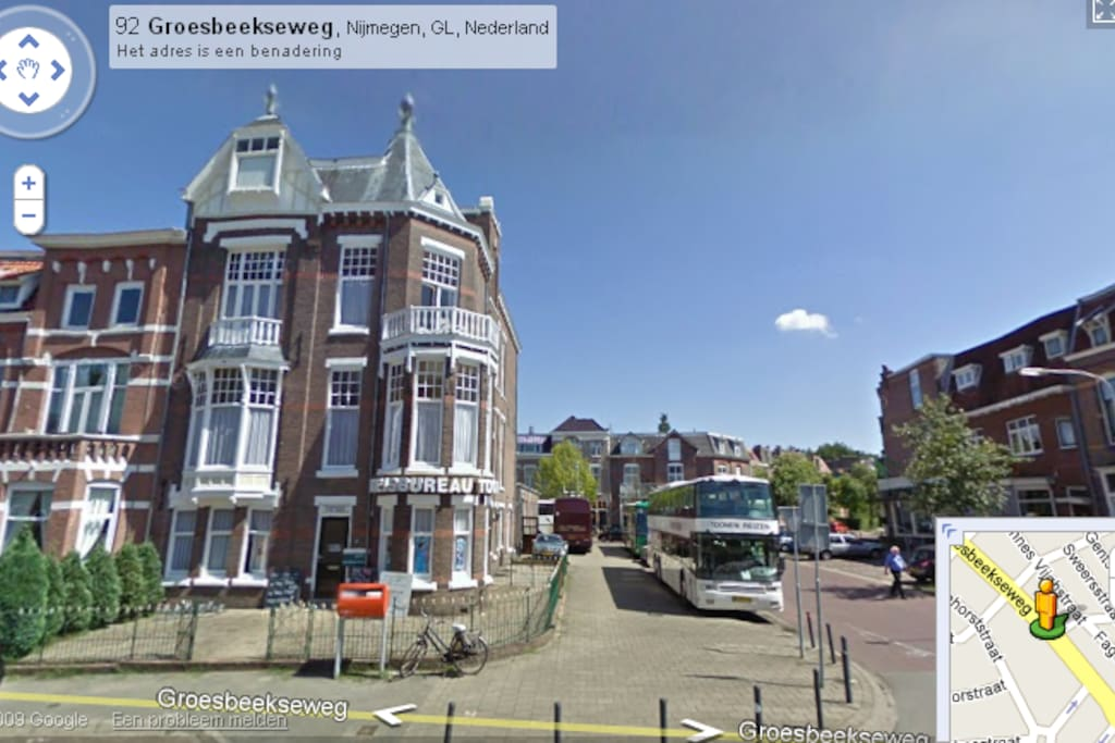 Location next to START/FINISH Nijmegen 4 Days