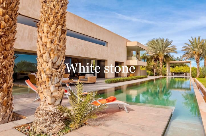 White Stone Luxury Modern Villa - Marrakech