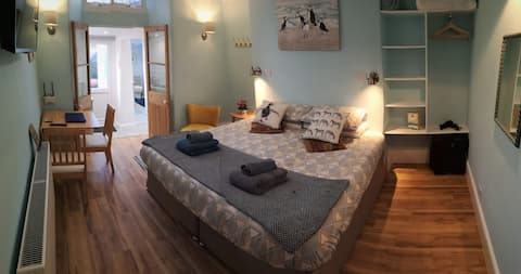 Newly refurbished, stylish guest suite.