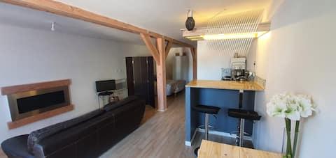 Location studio 35 m2 indépendant en rez de jardin