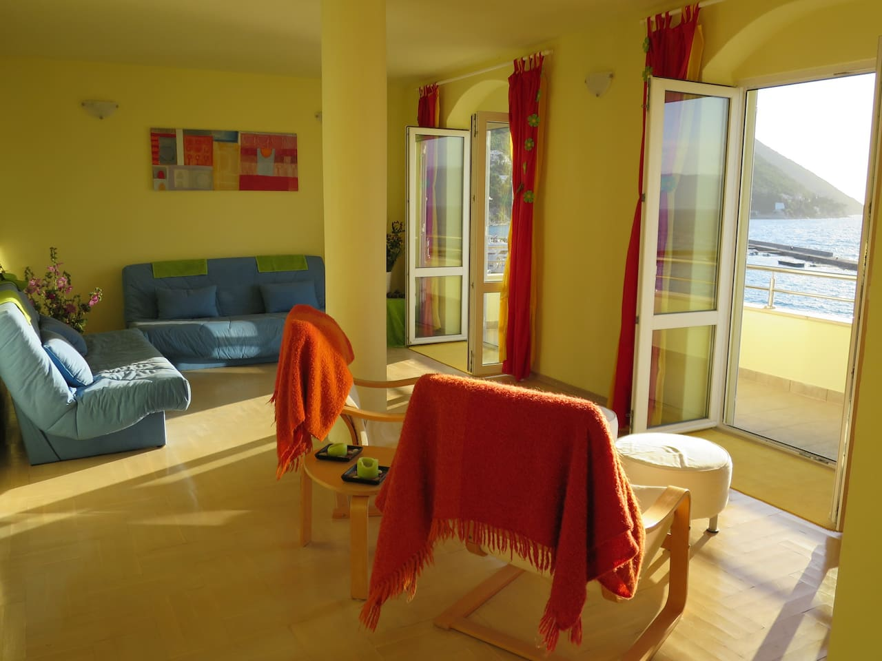 Living Room with full length balcony