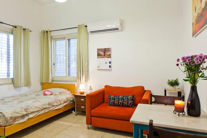 Great room in the centre, 5 min to Frishman beach