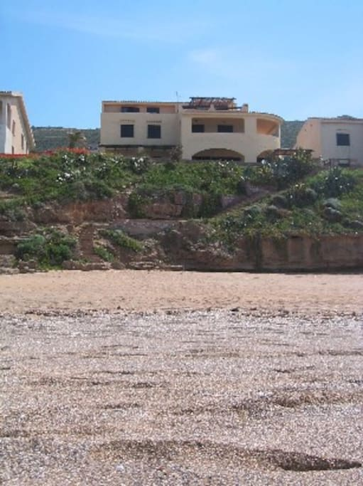 villa view from the beach