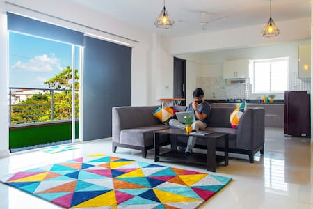 Luxury Room with Garden Balcony@ HSR & Koramangala