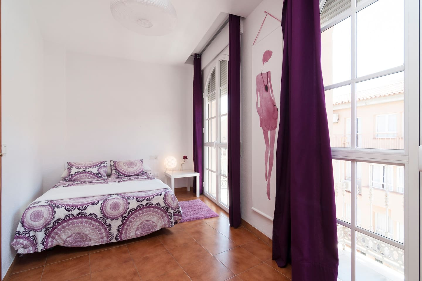 DOUBLE BED WITH TWO BALCONY