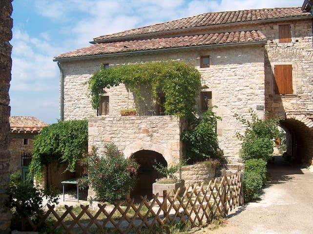 ancien mas en pierre  jardin studio indépendant - Orgnac-l'Aven - Hus