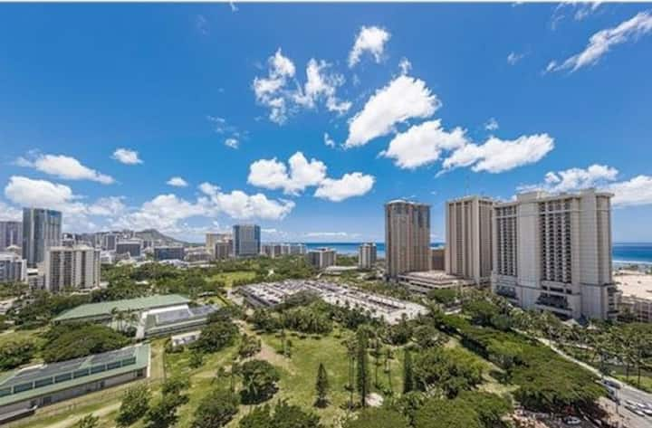 View!! FREE on-site PARKING Waikiki Studio *日本語*