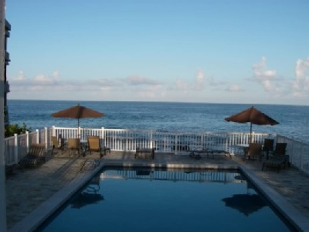 Watch the dolphins from our pool!