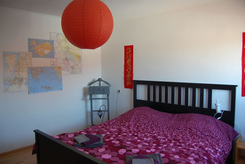Nice big bed with natural light income