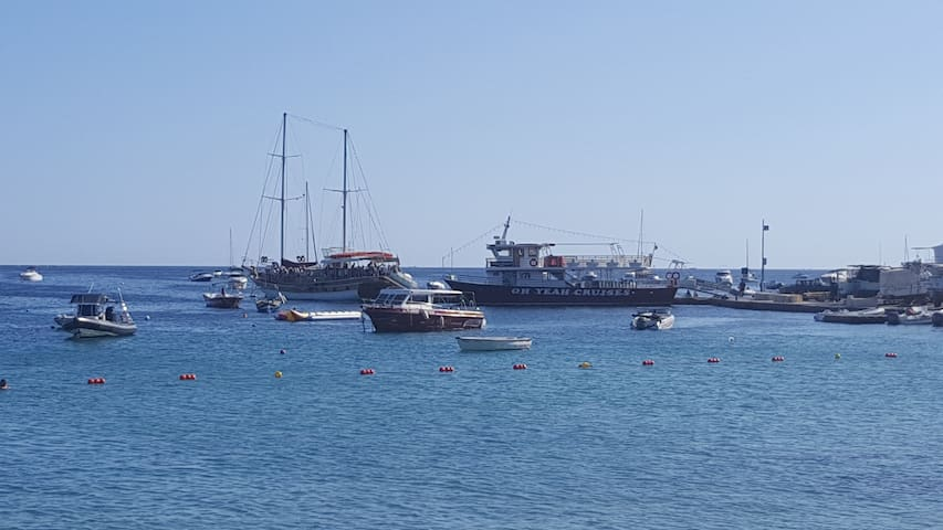 Boats used for local excursions departing near house ( highly recommended )