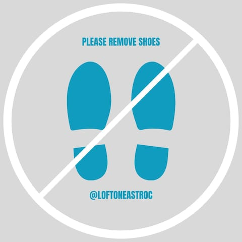 All guests must remove shoes!  There are hangers in the closet off to the left side of the main living space and an extra coat rack in bedroom #1 with the Queen bedroom also for your use.