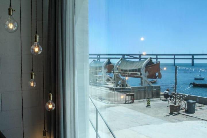 野海美宿102全海景美式复古上越loft拥有独立客厅
