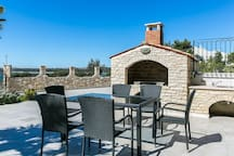 Terrace with grill