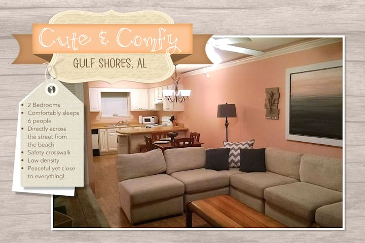 Cute & Comfy 2 BR Just Steps Away from the Beach!