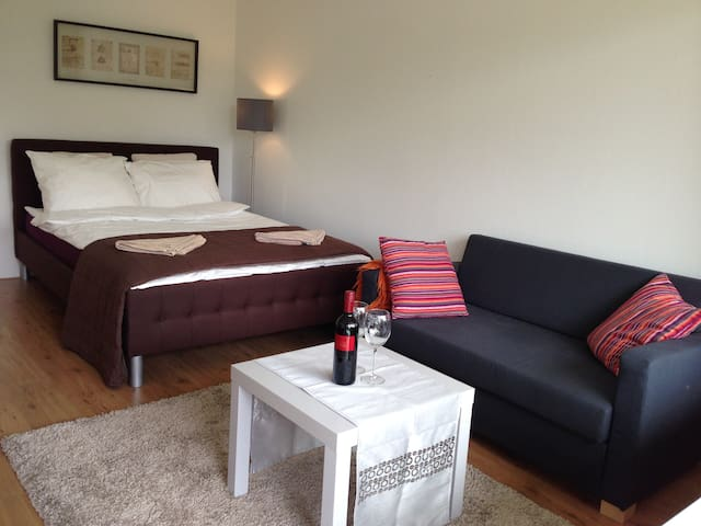 Private Modern Room + Sunny Terrace - Amsterdã - Apartamento