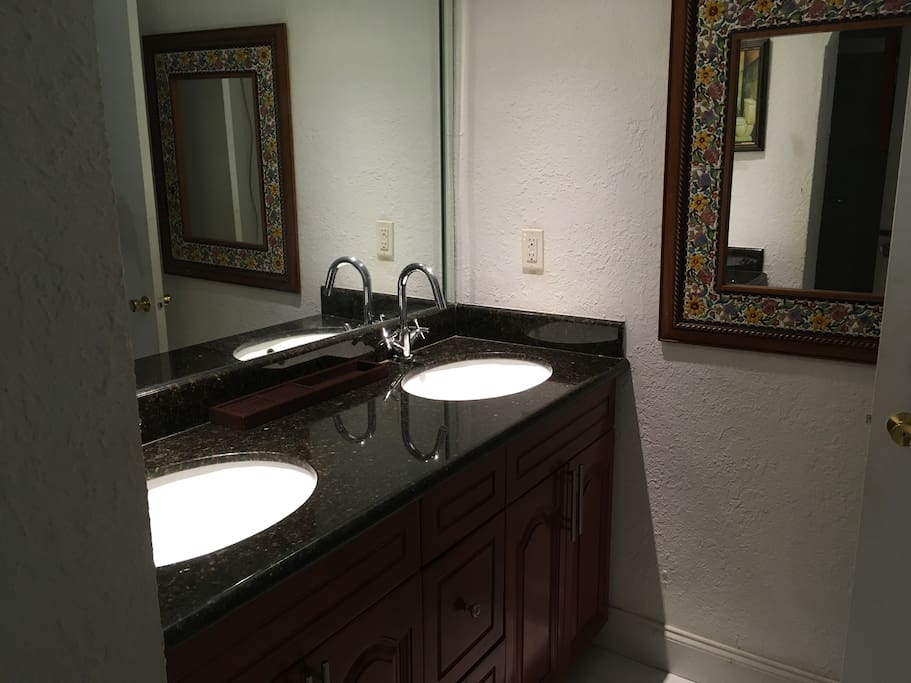 double sink marble renovated large bathroom