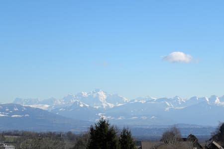 T2 dans maison Vue Mont Blanc - Hus