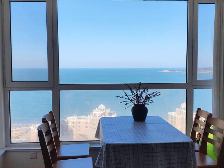 【海风姑娘】#亲子#住在海景里的海水浴场三室两卫150平