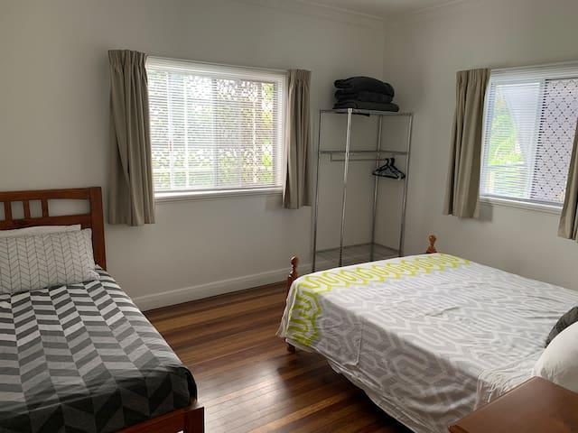 Bedroom 2 - 1x Single 1x Queen Beds