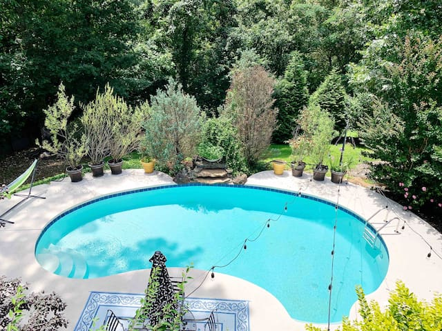 Relax poolside after a day of exploring all Bentonville has to offer!
