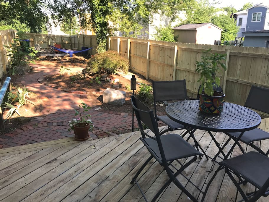 Patio and back garden
