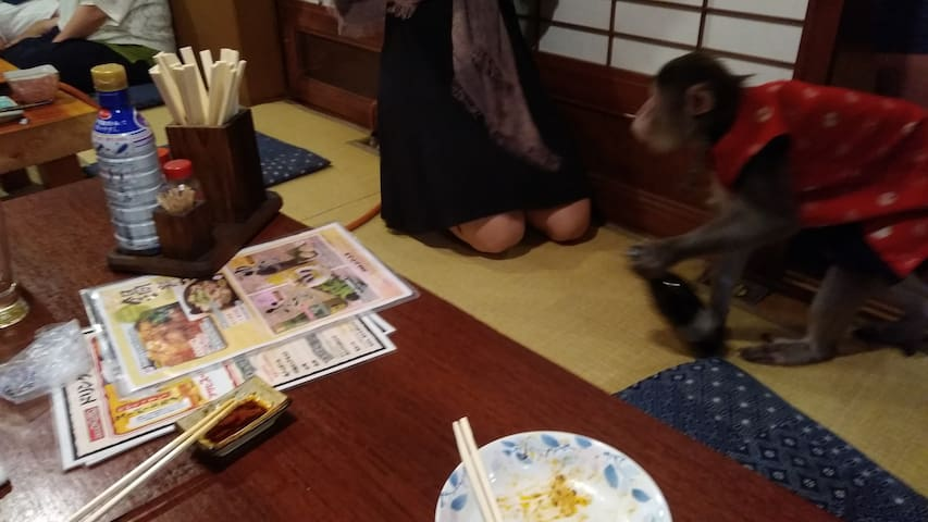 "Close to ""Kayabuki"" 「かやぶき」の近所です。"