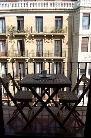 Amplia habitacion con balcon en San Sebastian. - Donostia - Overig