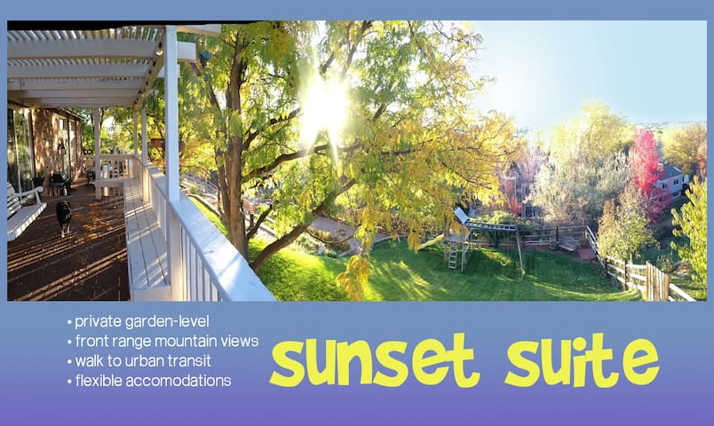 SUNSETSUITE •1100sf•sleep5+•theVIEW - Littleton - Haus