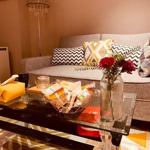 客厅一角 - 沙发床