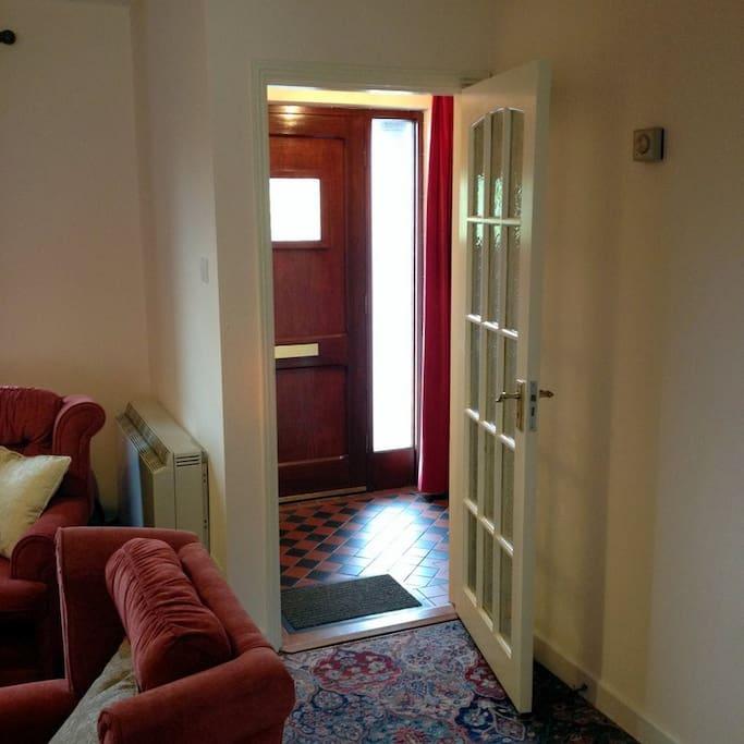 Hallway and front door.
