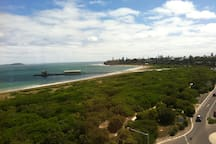 The view of the Historic Queenscliff Pier from the Harbour 360 lookout.