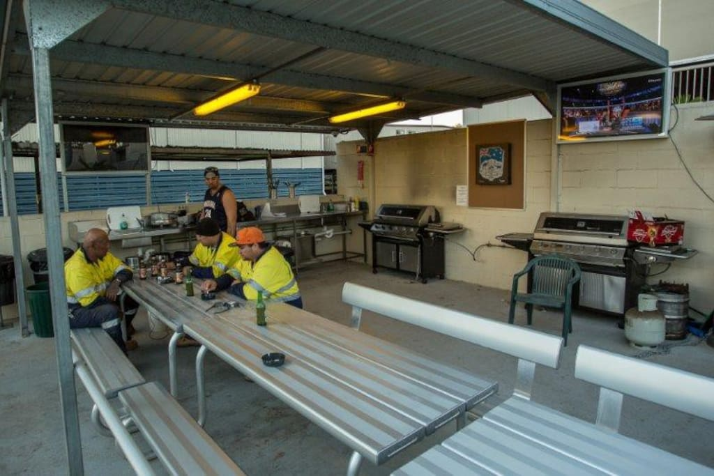 We have 2  fully equipped open-air camp kitchens, providing a casual, friendly atmosphere for meals. Both have large screen digital TV's & austar.