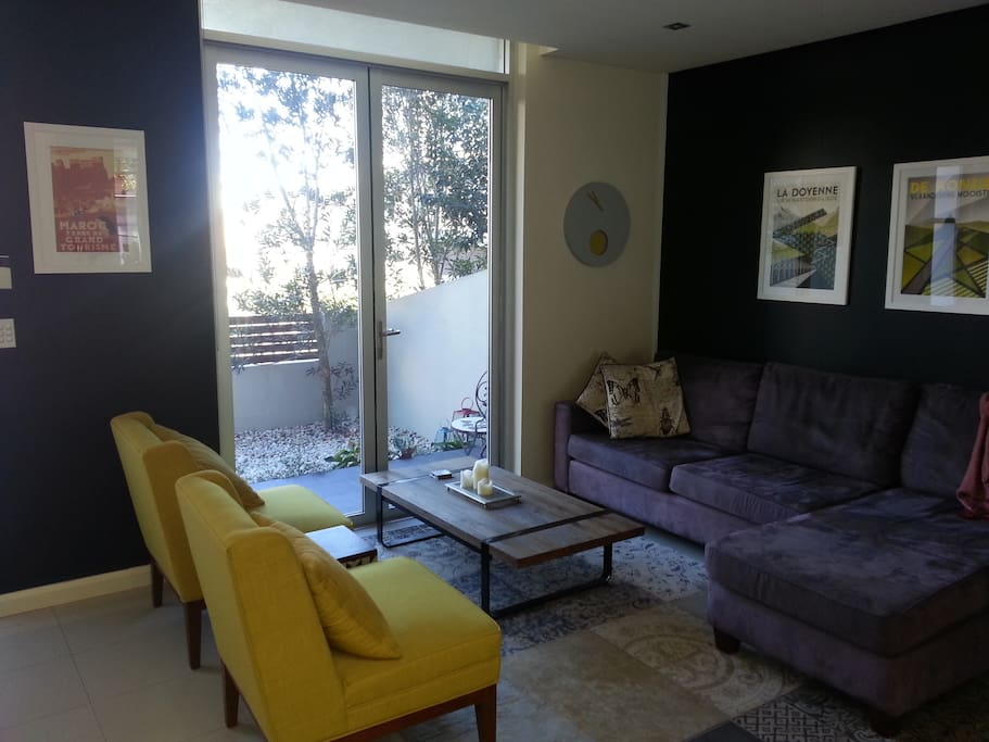 The living room with view to the common area
