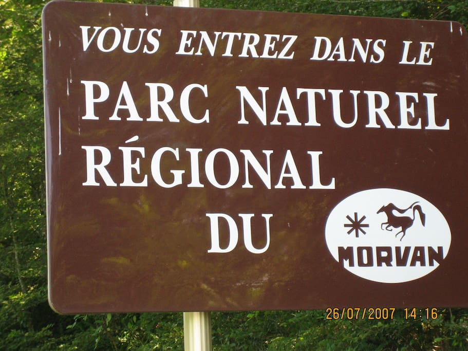 Het regionale park van de Morvan is 70x90 kilometer groot.