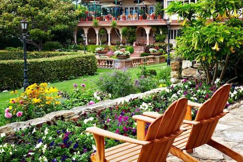 A Historic Coastal Retreat with Lush Gardens