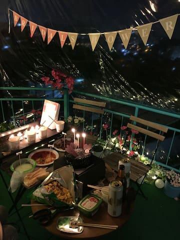 Two Thums 한강, 강남까지 보이는 이태원 최고의 전경(옥상 BBQ Party 가능) - Yongsan-gu - Hus